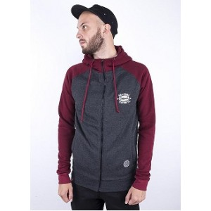 Худі утеплений Big Shark Original Bordo/ Dark Grey