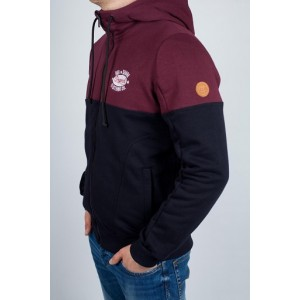 Худі / зіппер Big Shark Burgundy/navy
